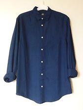 H&M Men's Cotton Shirt Relaxed Fit Small BNWT RRP £16.98 Dark Blue Uk Freepost