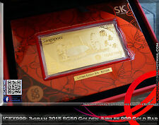 SK Jewellery SG50 3-gram Limited Edition 2015 Golden Jubilee 999 Pure Gold Bar