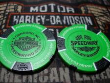 Harley Neon Green & Black Poker Chip Speedway Harley Davidson Concord, NC