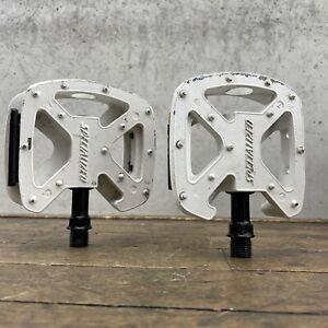 "Specialized Platform Pedals Mid School BMX Pedal White 9/16"" Mountain MTB Fatboy"