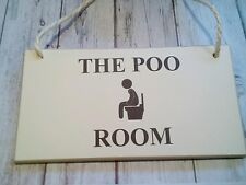 The Poo Room vi poo/hanging Signs Plaque/wood/toilet/air wick/soaps/loo/taps