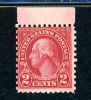USAstamps Unused US Scarce Washington Deep Carmine 11x10 Sctt 579 OG MNH Cat $92