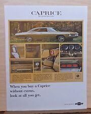 1967 magazine ad for Chevrolet - Caprice Custom Sedan, The Grand Chevrolet