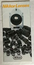 Nikkor Lenses,4 Page 8 x 4 in Foldout  Product Brochure, 1981