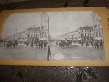 Stereoview photograph Beauty series Street in St Petersburg Russia c1900s