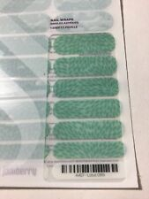 New Jamberry Nail Wrap Full Sheet Lotus Blue Green Floral