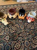 1992 TAZ TAZMANIAN DEVIL & Friends PLASTIC 3D COFFEE MUG LOONEY TUNES CUP