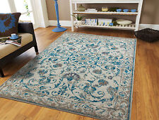Traditional Rugs 8x10 Blue Gray Distressed Rug 5x8 Vintage Carpet 2x4 Rugs
