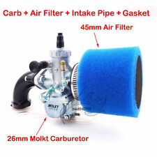Carby 26mm Molkt Air Filter Intake Pipe For 140cc 150 160cc Engine Dirt Pit Bike
