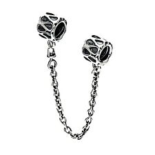 Detailed Charm Safety Chain | Silver Jewellery, European Charm Beads, Gift
