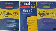 LOT 3 LIVRES ANNALES BAC 2005 PHYSIQUE, CHIMIE, MATHEMATIQUES S