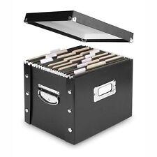 File Box Letter-Size Chrome-Steel Legal File Box Office Home Folders Card Holder