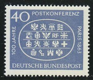 Germany 1963 MNH Mi 398 Sc 863 Postal Conference, Paris, 1863, centenary **