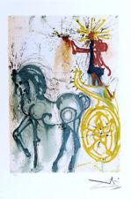Salvador Dali Cheval de Triomphe Facsimile Signed Lithograph COA