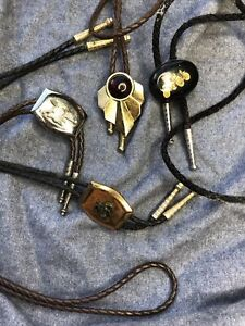(4) Vintage Bolo Ties Western Lot & Early Auto