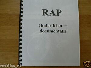 R0100 RAP---ONDERDELEN DOCUMENTETIE RAP BROMFIETS----MODEL ABOUT 1960