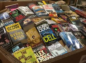 Lot of 20 Mystery Thriller Suspense Fiction Paperbacks Books RANDOM*MIX UNSORTED