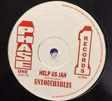 """The Untouchables-Help Us jah -12"""" Vinyl 45"""