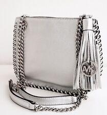 Michael Kors Tasche/Bag WHIPPED CHELSEA SM MESSENGER Leder Silver NEU!