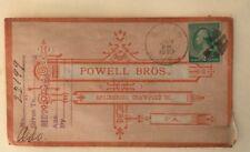 1890 Cover Powell Brothers Springboro Pennsylvania To Ludlow VT