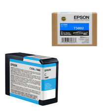 EPSON T5802 CYAN ORIGINALE SCADUTA 80ML C13T580200