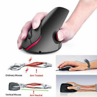 Ergonomic Mouse Optical Vertical Mouse Rechargeable Wireless 2.4G Precision Mice
