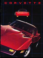 1981 Chevrolet Corvette Original Car Sales Brochure Catalog - Chevy