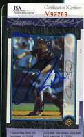 Jayson Wirth 1999 Bowman Rookie Jsa Coa Hand Signed Authentic Autograph