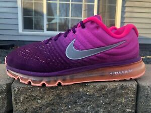 Women's Nike Air Max 2017 Running Shoes Size 10 Pink/Purple