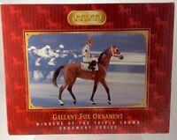 Breyer~Christmas 2006~Gallant Fox~#7 Triple Crown Winner Holiday Ornament~NIB