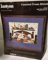 Janlynn Counted Cross Stitch Bedtime Bears Toys 31-2 Finished Is 12x9 Inch