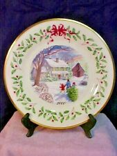 Lenox Annual Holiday Collectors Plate 2000 Bringing Home the Tree Made in USA