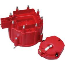 MSD Distributor Cap & Rotor Kit 8416; HEI / Male Red for SBC, 396-454/502 BBC