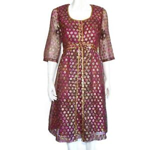 ANDORA Vintage 1960's Fab! Purple Sparkle Mid Century Maisel Dress sz 10 /5320