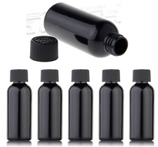 5pcs 60ml BLACK FLAT CAP Empty Dropper Bottles for E Liquid Juice VAPE