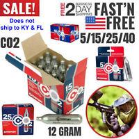 Crosman CO2 Cartridge 12g For Gas Powered Gun Pellet Airsoft USA Made Powerlet