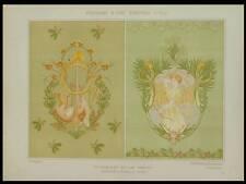 MULIER, CHASSE, ART NOUVEAU -1900- LITHOGRAPHIE, CHEVREUIL