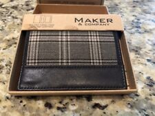 Maker & Company MMX Bi Fold Card Case Wallet Genuine Leather New $49
