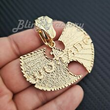 HIP HOP RAPPER STYLE GOLD PLATED WU TANG FASHION BLING CHARM PENDANT
