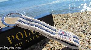 NEW POLO Ralph Lauren key chain fob striped gift box nautical Rescue Patrol ring