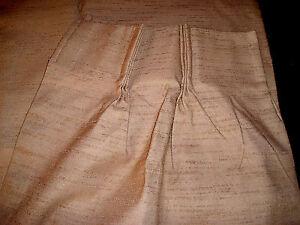 "Pinch Pleat Drape Panels 50""x63"" (25""x63"" each) JC PENNEY Textured GOLD Rayon"