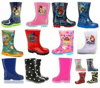 Childrens Kids Themed Wellies Daisy Wellingtons Navy Red Snow Rain Wellies UK4-3