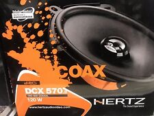 "HERTZ DCX570.3 5""x7"" 6""x8"" NEODYMIUM TWEETERS 2-WAY 60W RMS COAXIAL SPEAKERS NEW"
