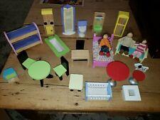 Huge Lot Kid Craft Kraft KidKraft Wood Wooden Dollhouse Furniture Accessories