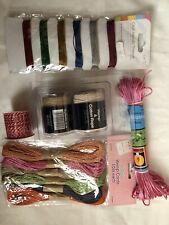 Job Lot Hemp Cord, Hemp & Cotton Rope, Metallic Threads Crafts New