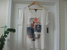 NWT 35.50$ Style &Co. Tee shop,Sand Color with Fall Pictures Print ,Sz XL