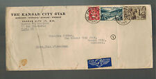 1950 France Kansas City Star Cover to USA Illustrated