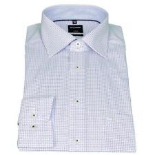 Olymp Herren Luxor Modern Fit Hemd blau Minimal Muster 1214 34 11