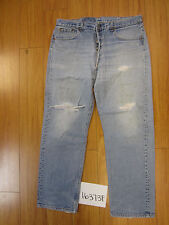 used Levis 501 destroyed feathered grunge USA jean tag 40x32 meas 36x29 16373F