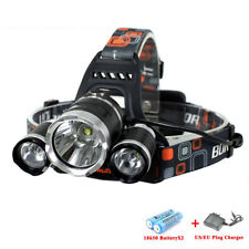 G4 AUTOMOTIVE 1x CREE 3-LED Headlamp Camping Torch Flashlight Charger & Battery